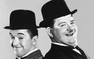 A Collection of Laurel and Hardy silent short films accompanied by the Mighty Wurlitzer Organ
