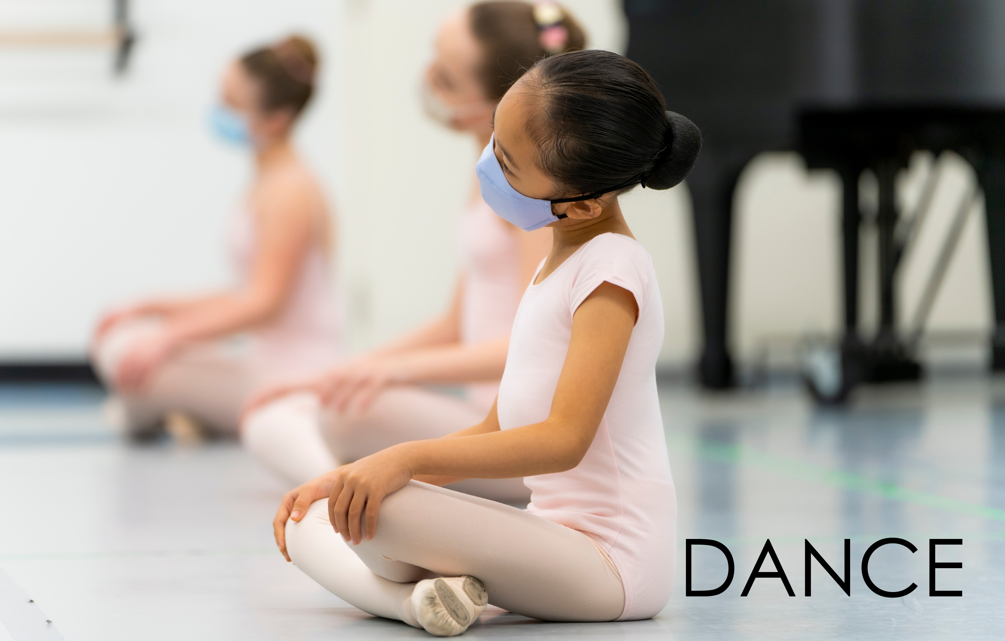 Student attends COVID safe ballet class at The Hanover Theatre in Worcester.